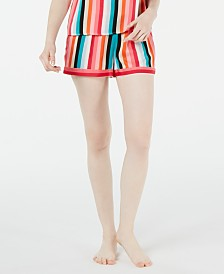 I.N.C. Striped Pajama Shorts, Created for Macy's
