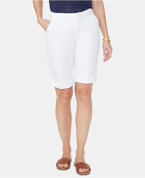 NYDJ Tummy-Control Cuffed Bermuda Shorts