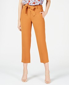 Bar III Belted Pants, Created for Macy's
