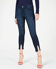 Florence Split-Hem Cropped Jeans