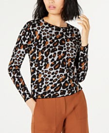 Marella Cotton Animal-Print Sweater