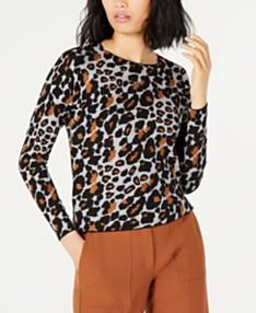 4cd3620aad Animal Print Sweater - Macy's