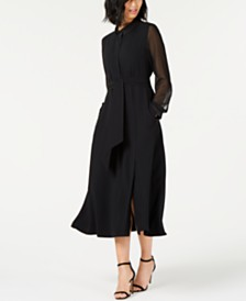 Marella Sheer-Sleeve Maxi Dress