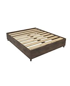 Mid- Century Queen Wood Platform Bed