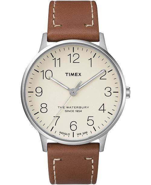 Timex Boutique Timex Waterbury Classic 40mm Leather Strap Watch