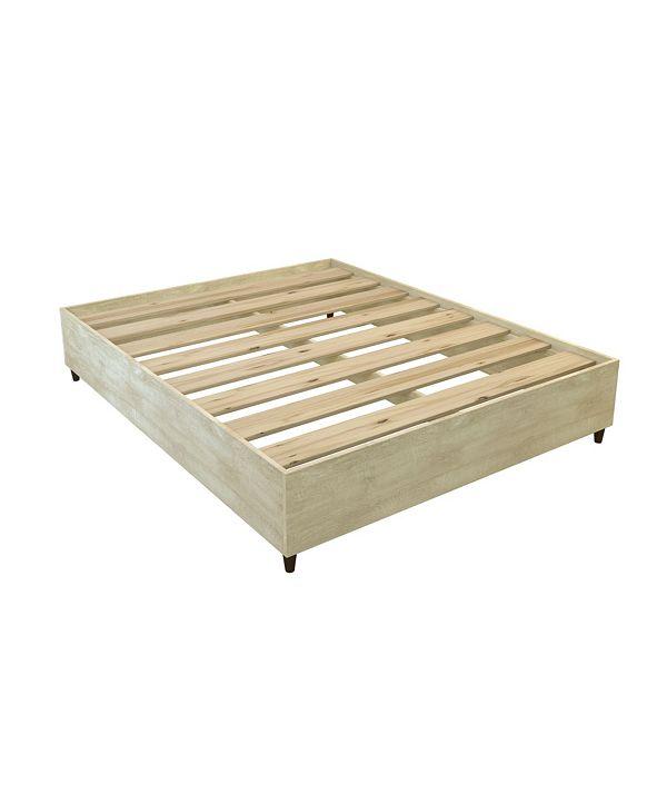 Amazonia Mid-Century Queen Wood Platform Bed