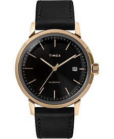 Timex Marlin Automatic 40mm Leather Strap Case Watch