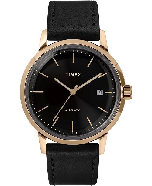 Timex Boutique Timex Marlin Automatic 40mm Leather Strap Case Watch
