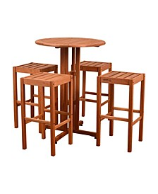 5 Piece Patio Bar Set Round