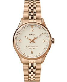 Timex Waterbury Traditional 34mm Cream Dial and Rose Gold Stainless Steel Bracelet Watch