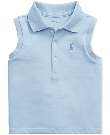 Polo Ralph Lauren Baby Girls Sleeveless Cotton Polo Shirt