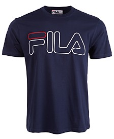 Fila Men's Borough Embroidered Logo Graphic T-Shirt