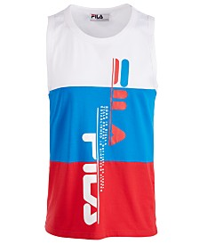 Fila Men's Alf Colorblocked Logo Graphic Tank