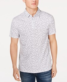 Calvin Klein Men's Line Drawn Floral Polo