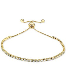 Cubic Zirconia Tennis Bolo Bracelet, Created for Macy's