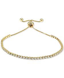 Giani Bernini Cubic Zirconia Tennis Bolo Bracelet, Created for Macy's