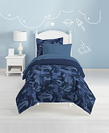 Geo Camo 5-Pc. Full Bed-in-a-Bag