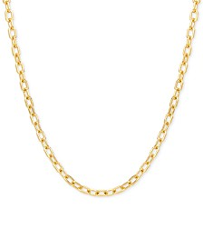 """Italian Gold Forzatina Link 18"""" Chain Necklace in 14k Gold"""