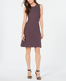 Anne Klein Fit & Flare Sweater Dress