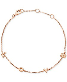 Love Link Bracelet in 18k Rose Gold-Plated Sterling Silver, Created for Macys