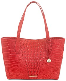 Athena Melbourne Embossed Leather Tote