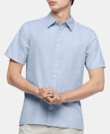 Calvin Klein Men's Herringbone Shirt
