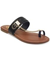 b80e807b2e G by GUESS Loona Toe Thong Flat Sandals