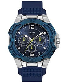 Men's Genesis Blue Silicone Strap Watch 51.5mm