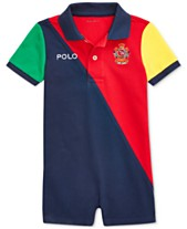507a3b306 Polo Ralph Lauren Baby Boys Colorblocked Cotton Polo Shortall