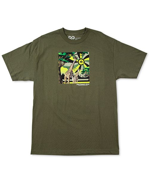 LRG Men's Motherland Cycle Cotton Graphic T-Shirt