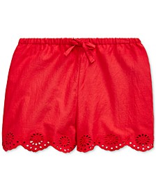 Baby Girls Eyelet Cotton Shorts
