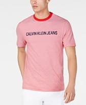 6a1d720c Calvin Klein Jeans Men's Feeder Stripe Logo T-Shirt