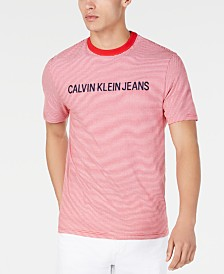 Calvin Klein Jeans Men's Feeder Stripe Logo T-Shirt