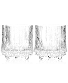 Glassware, Set of 2 Ultima Thule Double Old Fashioned Glasses