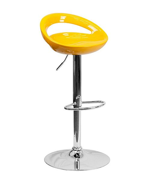 Fine Contemporary Plastic Adjustable Height Bar Stool With Chrome Base Evergreenethics Interior Chair Design Evergreenethicsorg