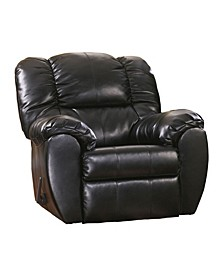 Offex Signature Design by Ashley Dylan Durablend Rocker Recliner in Onyx Durablend