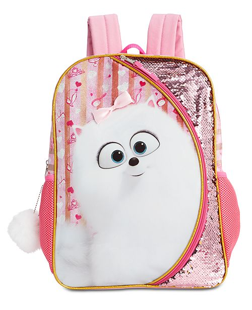 Accessory Innovations Little & Big Girls Secret Life Of Pets Reversible Sequin Backpack