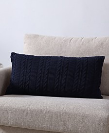 Dublin Cable Knit Rectangular 14x27 Decorative Pillow