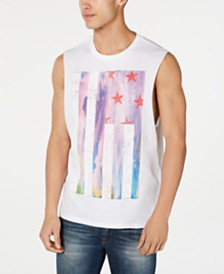 GUESS Men's Watercolor Flag Tank