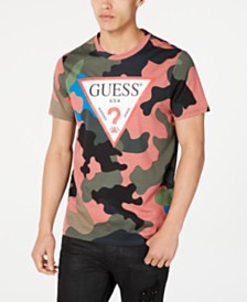 GUESS Men's Camo Logo T-Shirt