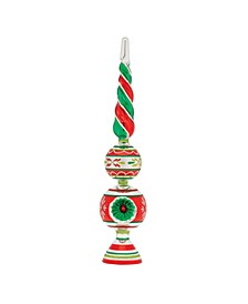 """Holiday Splendor 13"""" Finial Stand With Reflectors"""