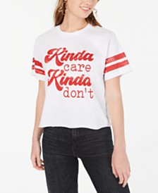 Rebellious One Juniors' Kinda Care T-Shirt