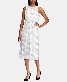 American Living Polka Dot-Print Day Dress
