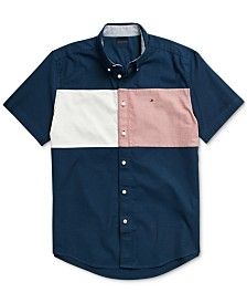 Tommy Hilfiger Adaptive Men's Nathan Flag Shirt with Magnetic Buttons