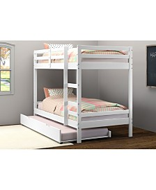 Twin Over Twin Bellaire Bunkbed with Trundle Bed