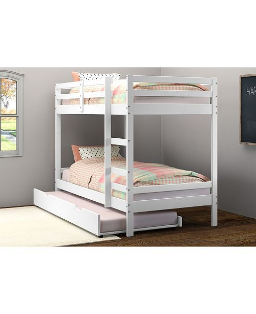 Donco Kids Twin Over Twin Bellaire Bunkbed with Trundle Bed
