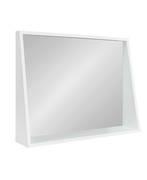 Kate and Laurel Jarden Recessed Wall Mirror with Shelf