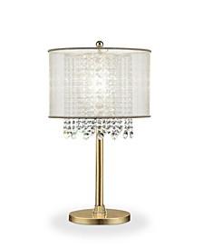 "30"" Bhavya Crystal Table Lamp"