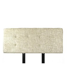 Ali Button Tufted Upholstered Eastern King Headboard