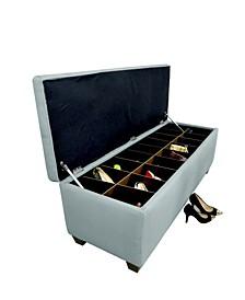 Sole Secret Button Tufted Small Shoe Storage Bench